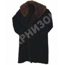 Тулуп армейский постовой (караульный) из натуральной нагольной овчины черного цвета (с конверсионными признаками)
